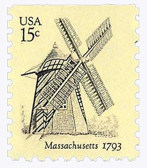 1980 USA Windmills, Massachusetts 15c