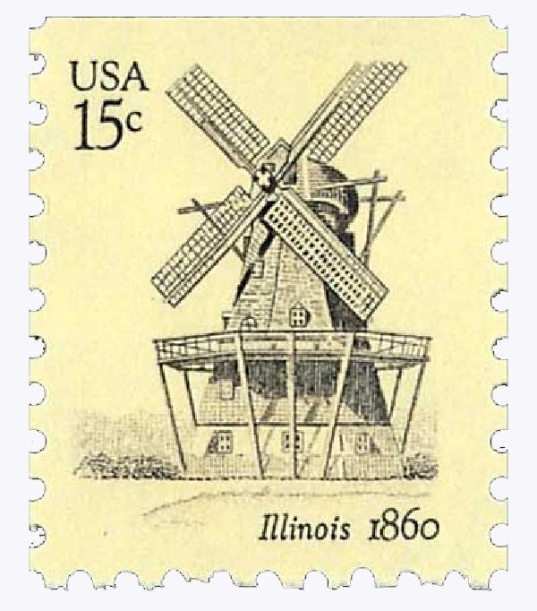 1980 USA Windmills, Illinois 15c