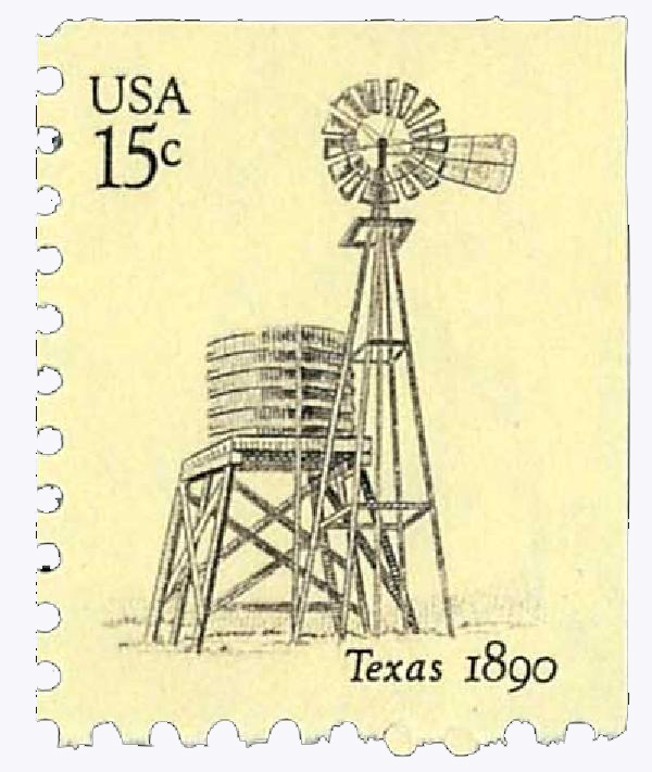 1980 USA Windmills, Texas 15c
