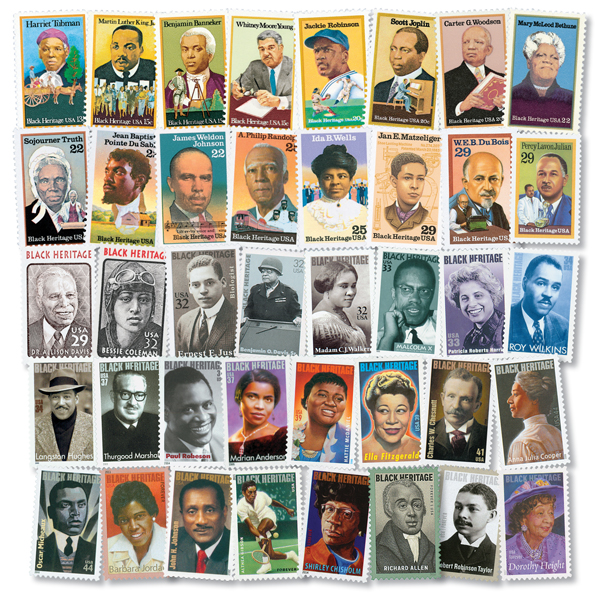 Complete Set - 1978-2017 Black Heritage Collection, 40 stamps