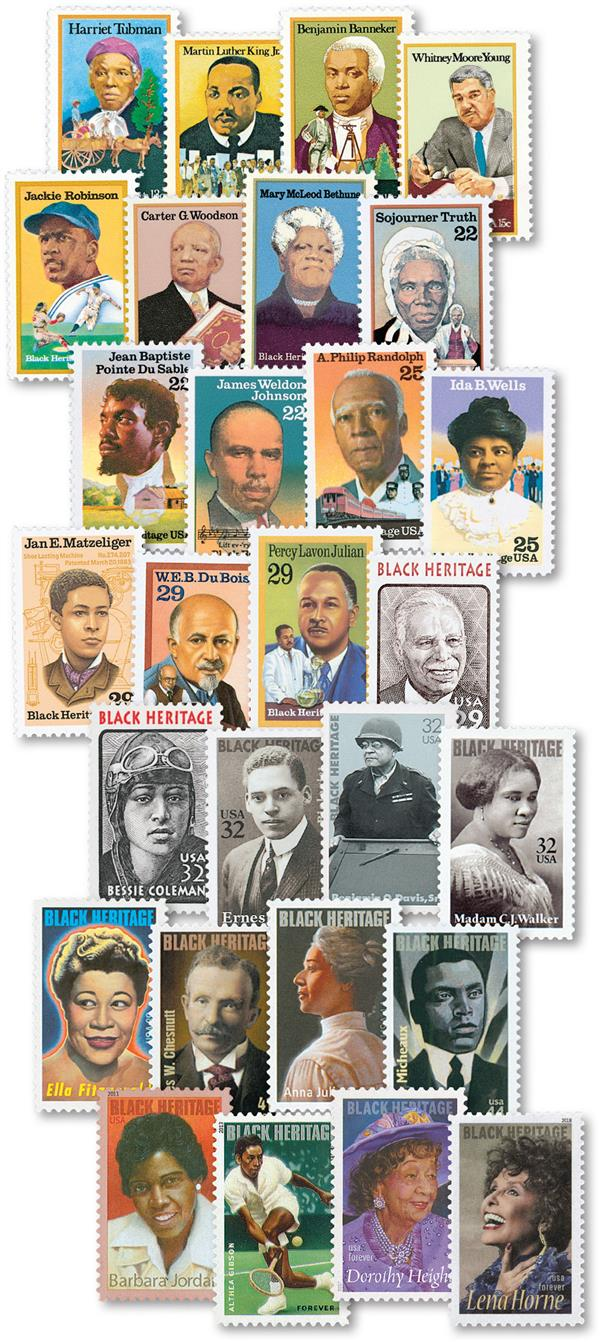 1978-2018 Black Heritage Series, complete set of 41 stamps