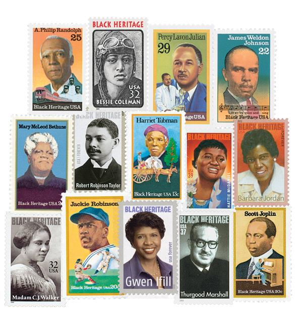 1978-2020 Black Heritage Series, complete set of 43 stamps