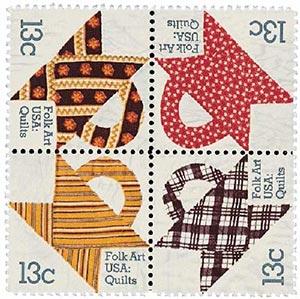 1978 13c Basket Design Quilts