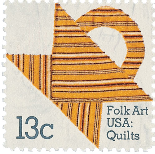 1978 13c Basket Design Quilts: Stripes