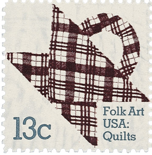 1978 13c Basket Design Quilts: Plaid