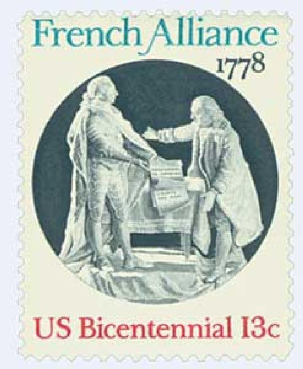 U.S. #1753 was issued for the 200th anniversary of the ratification of the 1778 Treaty of Alliance with France.