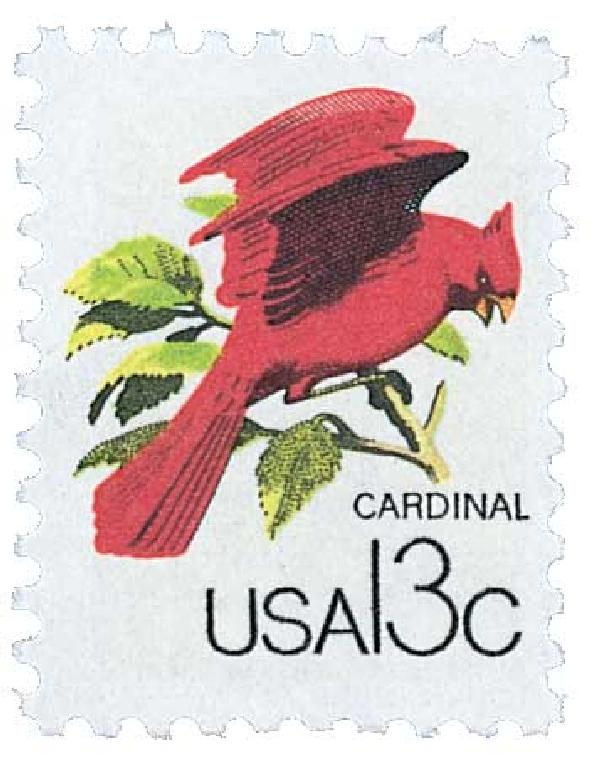 1978 13c Wildlife from Canadian/US Border - Cardinal