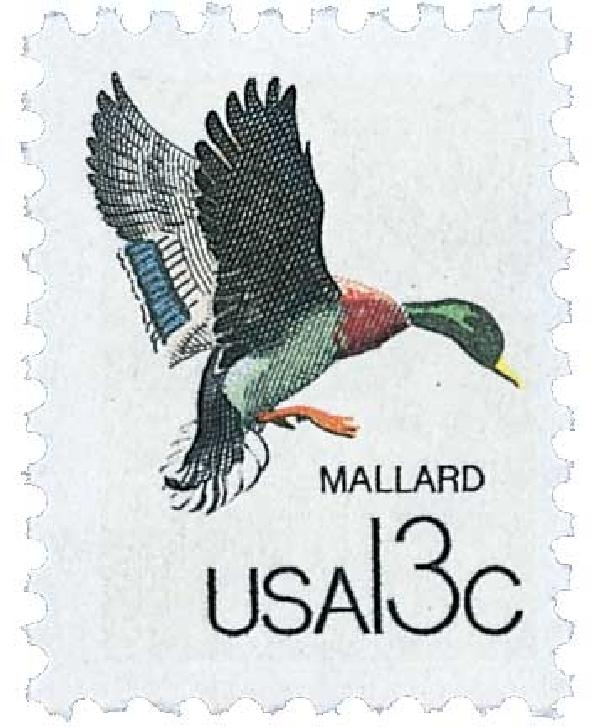 1978 13c Wildlife from Canadian/US Border - Mallard