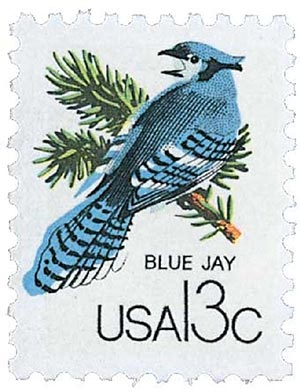 1978 13c Wildlife from Canadian/US Border - Blue Jay
