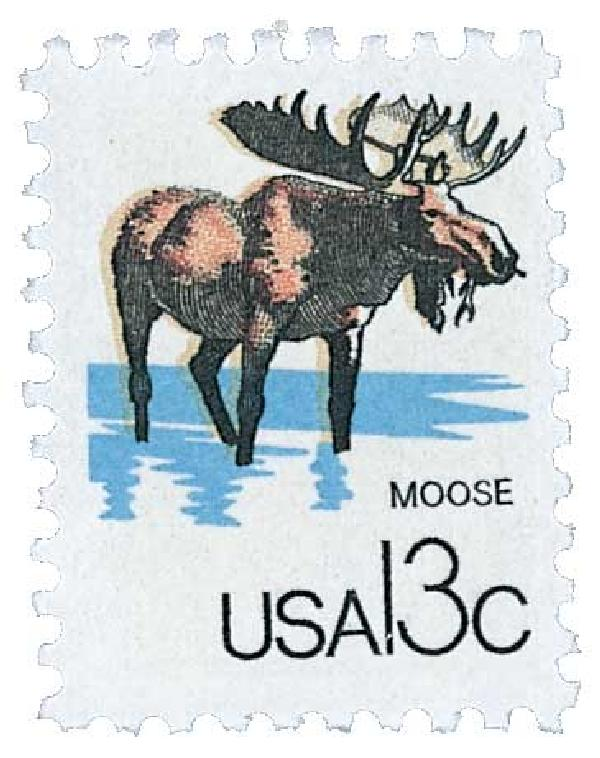 1978 13c Wildlife from Canadian/US Border - Moose