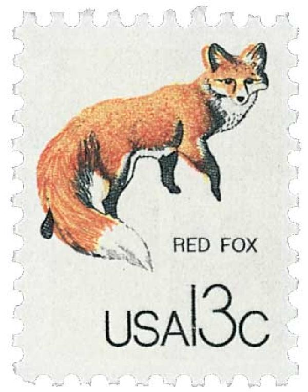 1978 13c Wildlife from Canadian/US Border - Red Fox