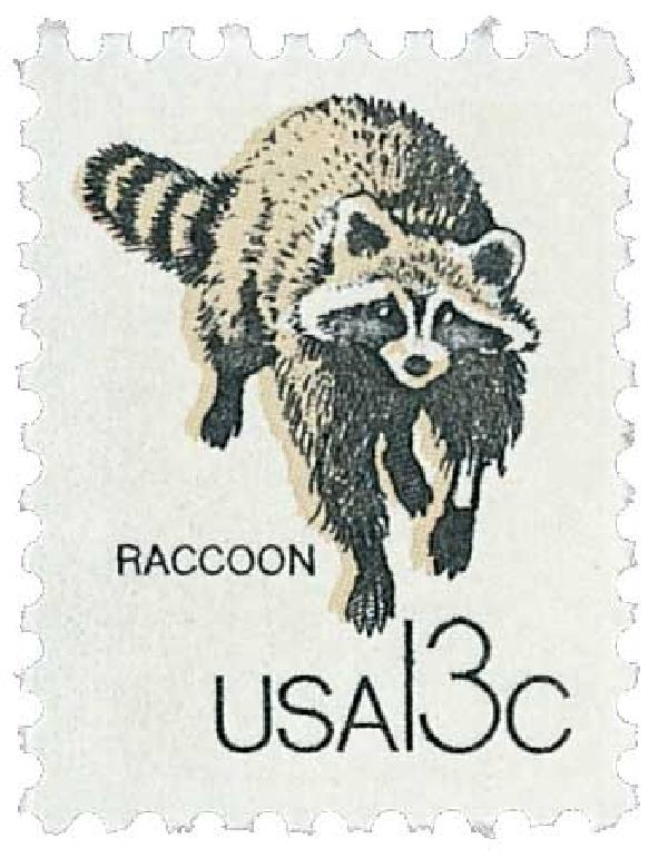 1978 13c Wildlife from Canadian/US Border - Raccoon