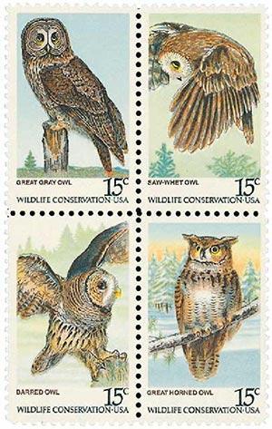 1978 15c American Owls