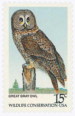 1978 15c American Owls: Great Gray Owl