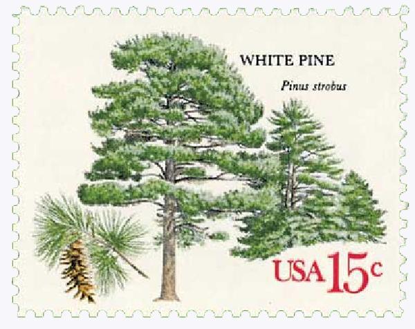 1978 15c American Trees: White Pine