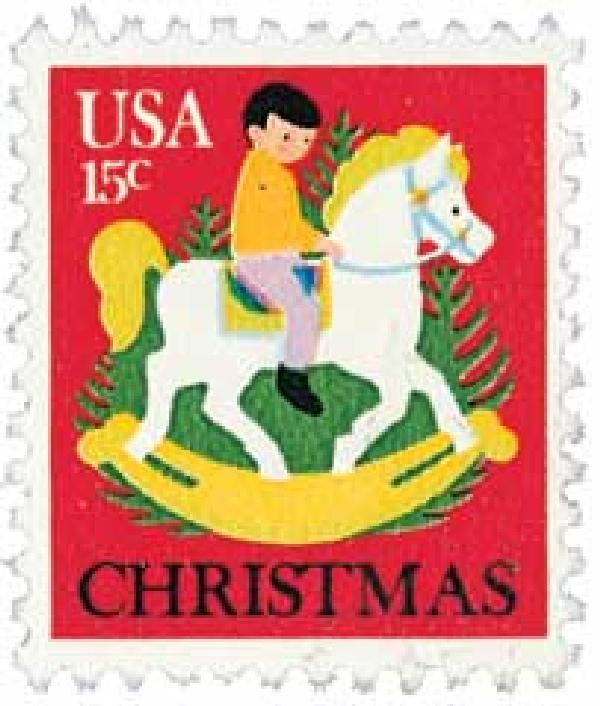 1978 15c Christmas Child on Hobby Horse
