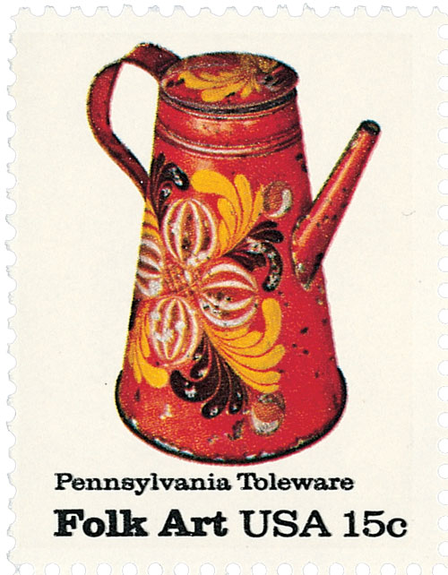 1979 Pa. Toleware, Coffee Pot 15c