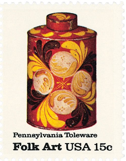 1979 Pa. Toleware, Tea Caddy 15c