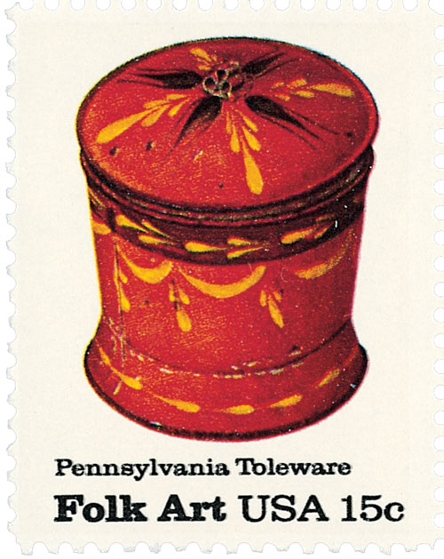 1979 15c Pennsylvania Toleware: Sugar Bowl