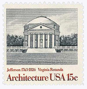 1979 15c American Architecture: Virginia Rotunda
