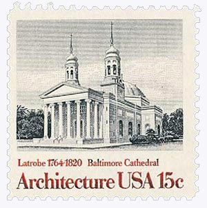 1979 15c American Architecture: Baltimore Cathedral