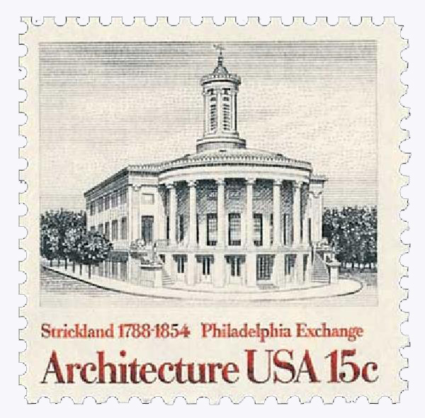 1979 15c American Architecture: Philadelphia Exchange