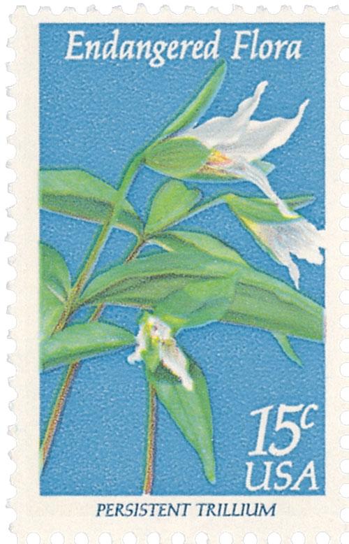 1979 15c Endangered Flora: Persistent Trillium
