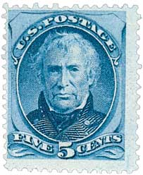 1875 5c Zachary Taylor, blue