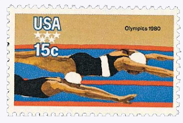 1979 15c Summer Olympics: Swimmers