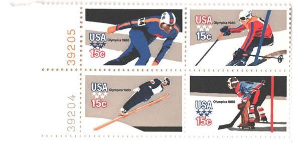 1980 15c Winter Olympics, perf 11