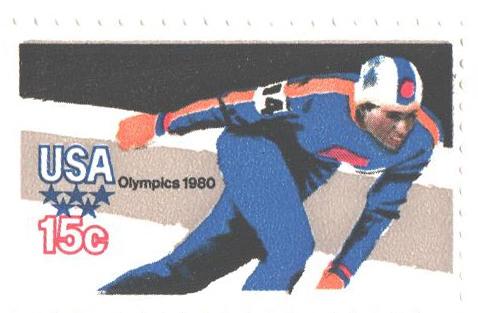 1980 15c Winter Olympics: Skater, perf. 11