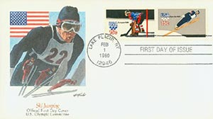 1980 15C Ski Jump/Hockey
