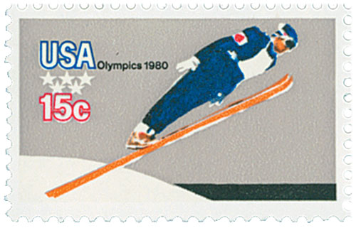 1980 15c Winter Olympics: Ski Jumper