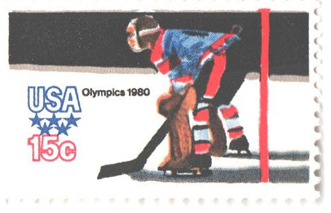 1980 15c Winter Olympics: Hockey, perf 11