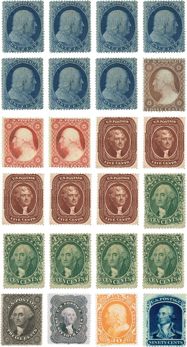 Complete Set, 1857-61 Issue