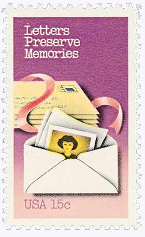 1980 15c Letter Writing: Letters Preserve Memories