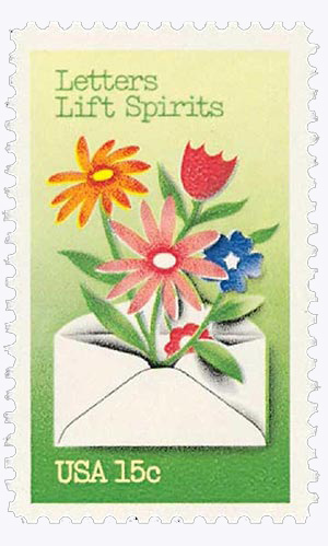 1980 15c Letter Writing: Letter Lift Spirits