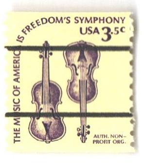 1980 3.5c Violins, precancel