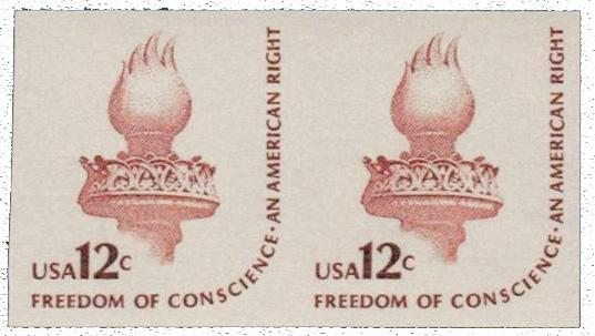1981 12c red brown, Imperf pr.