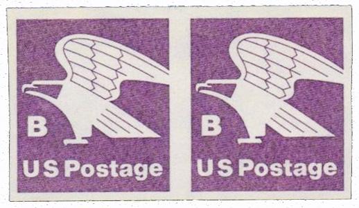 1981 (18c) violet, Imperf pr.