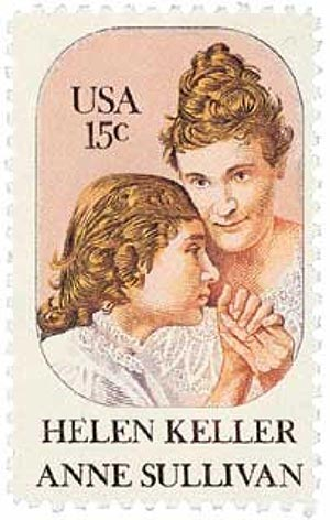 1980 15c Helen Keller and Anne Sullivan