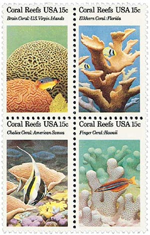 1980 15c Coral Reefs