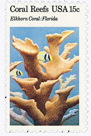 1980 15c Coral Reefs: Elkhorn Coral