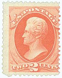1879 2c Andrew Jackson, vermilion