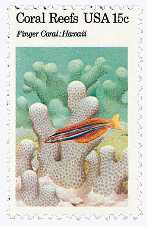 1980 15c Coral Reefs: Finger Coral