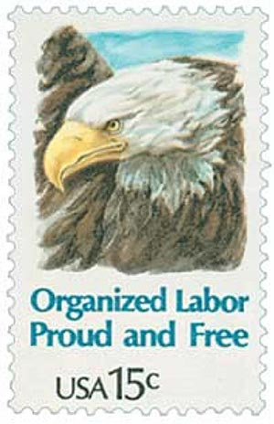 1980 15c Eagle, Organized Labor