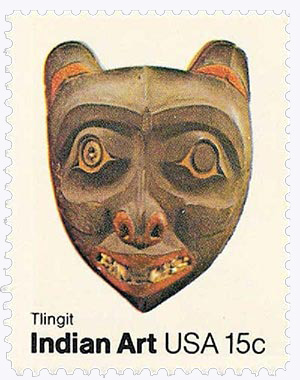 1980 15c Pacific Northwest Indian Masks: Tlingit