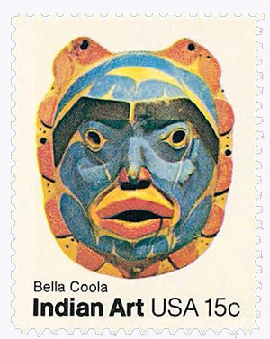 1980 15c Pacific Northwest Indian Masks: Bella Coola