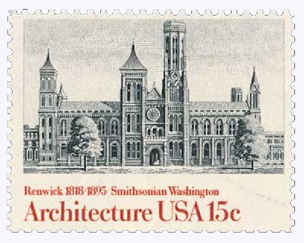 1980 15c American Architecture: Smithsonian, Washington