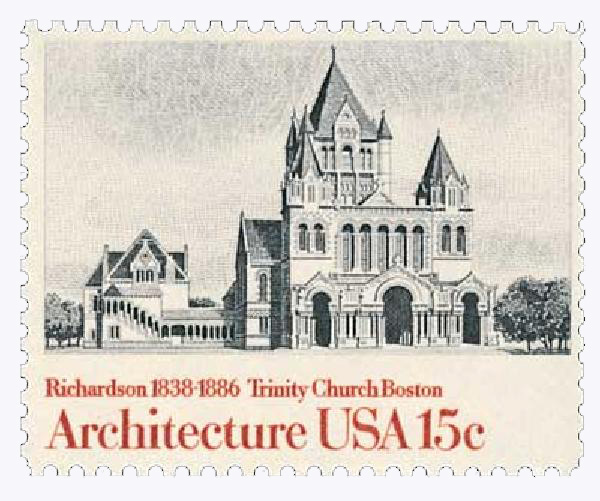 1980 15c American Architecture: Trinity Church, Boston